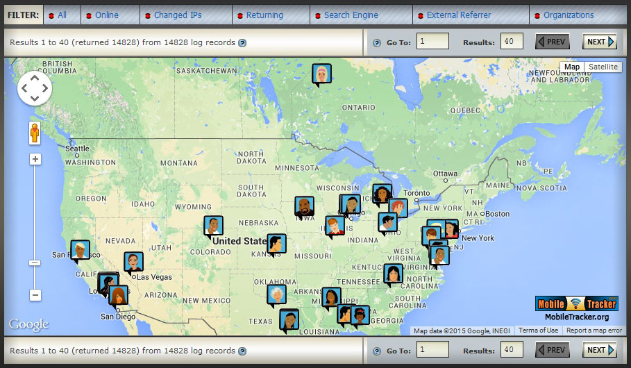 mobile web analytics visitors maps